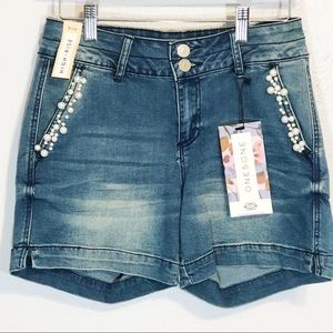 NWT One5one high waisted embellished shorts sz 4